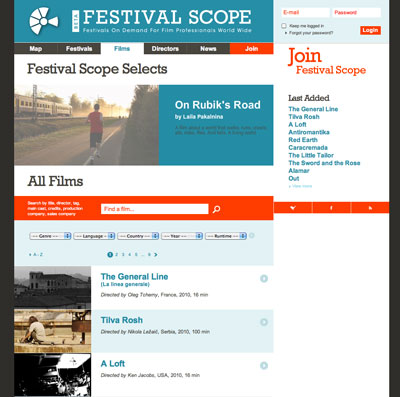 Festival Scope website